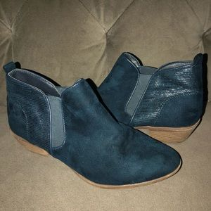Teal Booties Lightly Worn